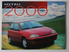 CHEVROLET METRO 2000 dealer brochure - French - Canada - ST1002000218