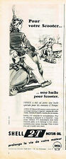PUBLICITE ADVERTISING 064  1955  SHELL   2 temps huile pour scooter
