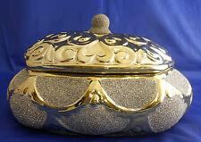 A lidded gold ceramic candy jar home decorative / Favors / Wedding Gift