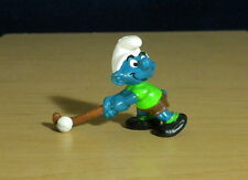 Smurfs Field Hockey Smurf Vintage Figure Sports Toy PVC Display Figurine 20133