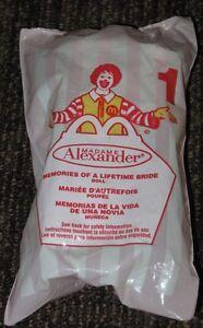 2001 - 2002 Madame Alexander McDonalds Happy Meal Toy Memories Lifetime Bride #1