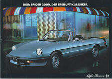 Alfa Romeo - Spider - Prospektblatt - Deutsch