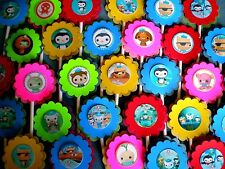 30 OCTONAUTS Cupcake Toppers Birthday Party Favors Supply, Baby Shower Decor 30