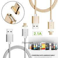Moizen 2.1A Magnetic Micro USB Charger Adapter Cable for Samsung Android HTC LG