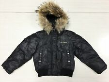 Les Copains Italy Winter bomber Jacket Coat Giacca unisex Siz 4 Y black boy girl