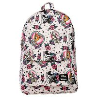 Loungefly Disney Bambi Tattoo Flash Print School Book Bag Backpack WDBK0654