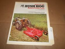 PY106) Bush Hog Sales Brochure 4 Pages - Rotary Cutter Line