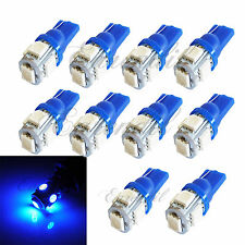 T10 10x Super Blue LED 5 SMD Wedge Xenon Bulb #Pt4 168 192 Front Parking Light