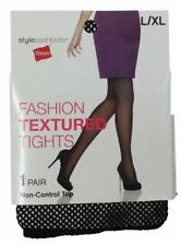2c422b1e1e1c7 Hanes Womens Ladies Black Fishnet Tights Stockings Fashion Textured L/XL