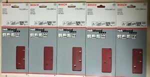 Bosch Schleifblatt-Set RED:Wood TOP 50-er  115 x 280 mm K320 10 Löcher