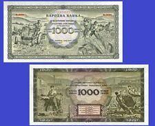 Yugoslavia 1000 Dinara 1949 .  UNC - Reproductions