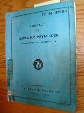 International Hough HM PARTS MANUAL BOOK CATALOG WHEEL PAYLOADER GUIDE LIST HM-5