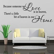 HEAVEN HOME Wall Art Sticker Hall Lounge Quote Decal Mural Transfer WSD485