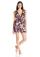Betsey Johnson Women's Floral Print Open Back Sleep Shirt Nightie Dress Sz M