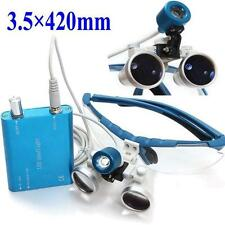 lupas dentales  Loupes Surgical Binocular 3.5X 420mm + LED Head Light Lamp
