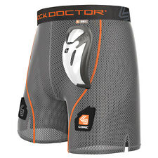 Shock Doctor Core Loose Hockey Short With Bioflex Cup, Boys Large, Grey, Wicking