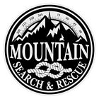 Mountain Search & Rescue Large Round Black on White Reflective Decal Sticker