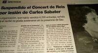 Carles Sabater. Concierto Suspendido. 1995