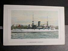 Battleship USS ILLINOIS BB-7 Naval Cover unused postcard