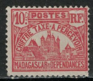 MALAGASY:1908-24 SC#J11 MVLH Governor's Palace  X113