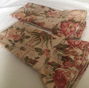 Vtg Ralph lauren guinevere Aragon Medieval 2 Ruffled Standard Pillowcases
