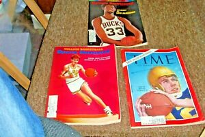 A Lot 3 Sports Magazines 2 SI Basketball and 1 Time Magazine Football