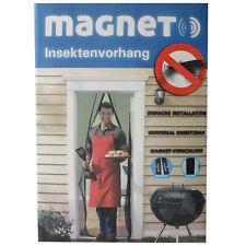 XL Insektenschutz Tür Schwarz 2,2x1m Türvorhang magnetisch Fliegengitter Vorhang