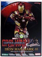 "In STOCK Kotobukiya ""Iron Man MK 46"" Civil War Artfx+ Marvel Comics Now Statue"