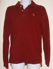 Men's Size S Red Henley Abercrombie and Fitch Muscle Shirt
