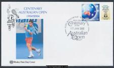 17-Jan-2005 Australian Open Tennis Centenary PStamp Wesley First Day Cover