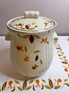Hall's Autumn Leaf Cookie Jar Vintage China Ceramic Mary Dunlap with lid