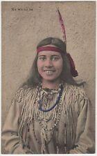 Native American Indian Sioux Tribe Woman Ka Wa Ne Ta Printed Postcard c1912