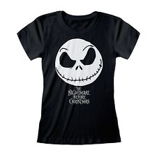 Camiseta oficial de pesadilla antes de Navidad Jack cara señoras Skinny S M L XL XXL