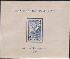 Reunion Nr.Bl.1 ungebraucht Weltausstellung Paris 1937
