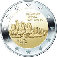 MALTA Ħaġar Qim Temples - 2 Euro Commemorative Coin - 2017 Issue UNC - RARE
