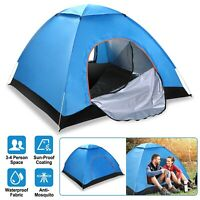 Waterproof 4 People Instant Pop Up Tent Family Camping Hiking Tent +Carrying Bag