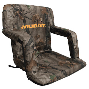 Big Game Muddy Comfortable Deluxe Stadium Bucket Seat Hunting Chair, Camoflauge