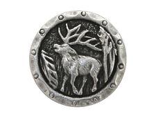 6 Antlers Elk 3/4 inch ( 20 mm ) Metal Buttons Antique Silver Color