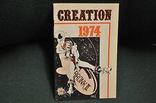 CREATION COMIC CONVENTION PROGRAM 1974 WRIGHTSON CHAYKIN FINE