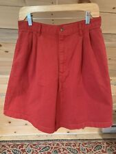 Vintage 90's Polo Ralph Lauren RED Cotton Canvas Shorts Women's 14 Made in USA