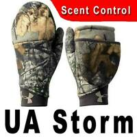 UNDER ARMOUR STORM UA CAMO MITTENS WOMEN'S REALTREE SCENT CONTROL - 2 PAIRS SET