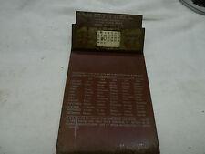 BSA/SUNBEAM 1952 FACTORY DEALER CALENDAR CLIPBOARD