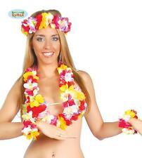COLLANA HAWAIANA Carnevale Accessori Fiori Bracciali Hawaii Party Festa 227813