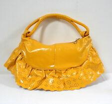 Sac à main rigolo vinyle jaune style rétro pop