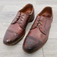 Allen Edmonds Cap Toe Derby Men's Shoes Size 8 Dress Brown