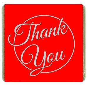 200x red Thank You Neapolitan Milk Chocolate Favours Individually Foil Wrapped