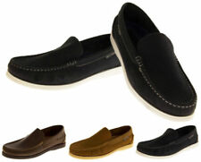 Leather Upper Shoes Loafers Round for Men