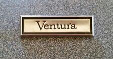"Vintage Pontiac Ventura Emblem Black and Silver Tone 2 5/8"" x 3/4"""
