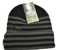 Unisex Mens LRG Lifted Research Group Black Gray Beanie Knit Hat Toque New