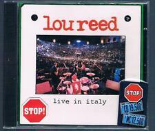 LOU REED LIVE IN ITALY CD F.C. NUOVO SIGILLATO!!!